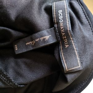 BCBGMaxAzria Dresses - BCBG MAXAZRIA   black Grecian style chain dress